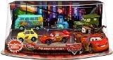 Disney / Pixar CARS Movie Exclusive PVC Figurine Playset Lightning McQueen Pit Crew Includes Luigi, Guido, McQueen, Mater, Sarge Filmore