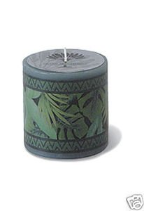 Hawaii Decal Candle Tropical Jungle 3 x 3 in.