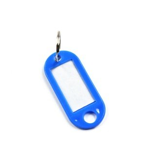Bluecell Pack of 60 Assorted Color Coded Key Tag with Label Window Ring Holder wtih LCD Cleaner Stylus