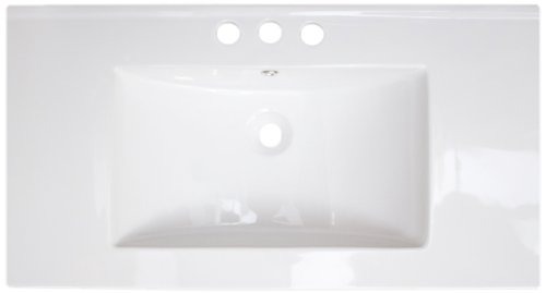 American Imaginations 425 32-Inch by 18-Inch White Ceramic Top with 4-Inch Centers