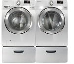 Samsung White Front Load Steam Washer & Electric Dryer (WF448AAW_DV448AEW)