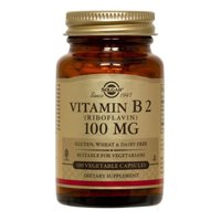 Vitamin B2 (Riboflavin) 100 mg Vegetable Capsules, 100 mg, 100 V Caps (Pack of 2) 100g vitamin b2 riboflavin food grade usa imported
