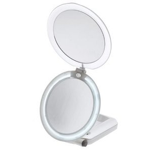 lighted make up mirror feature fluorescent lighted 1x 10x mirror. Black Bedroom Furniture Sets. Home Design Ideas