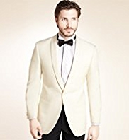 Wool Blend 1 Button Tuxedo Eveningwear Jacket