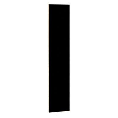 """Vertical Front Filler Size: 72"""" H X 15"""" W X 0.75"""" D, Color: Black front-466795"""