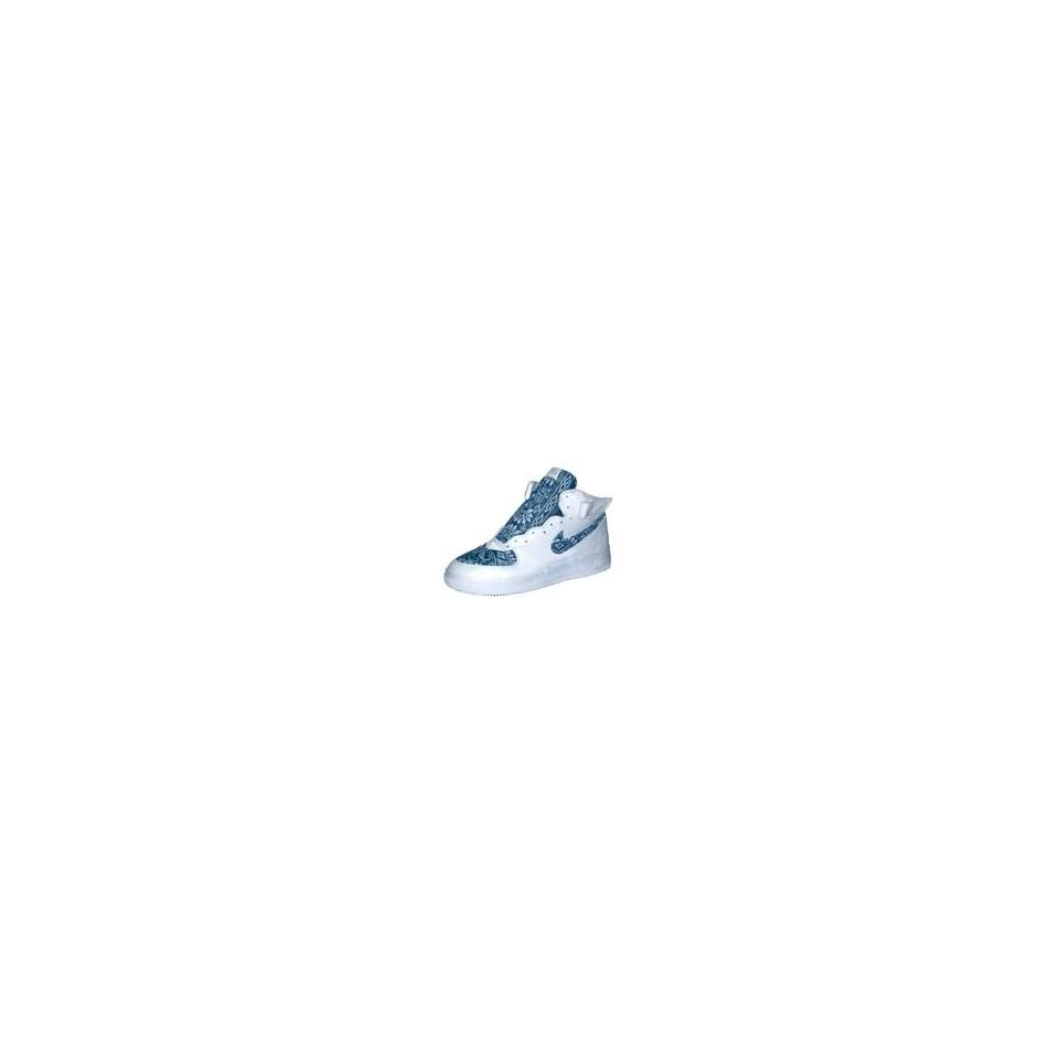 sports shoes 5cc92 a6e83 Bandana Fever Custom Nike Air Force One Mid Top (White Navy)