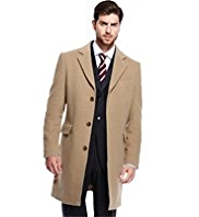 Collezione Luxury Italian Wool Rich Coat with Cashmere