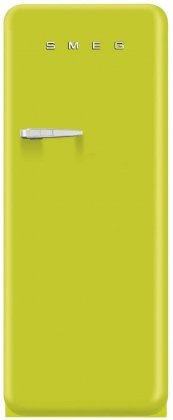 "Smeg FAB28ULIR1 24"" 50's Style Top-Freezer Refrigerator in Lime Green with Right Hinge"