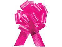 HOT PINK Pull String Bows - 5.5