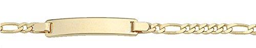 Damen Schmuck Gold Identitätsarmband Figaro / Figarokette aus 333 Gelb Gold ( 14 cm ) ( 3 mm ) bestellen