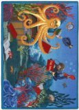 "Joy Carpets Kid Essentials Language & Literacy Fish Tales Rug, Multicolored, 10'9"" x 13'2"""