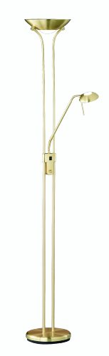 Trio-Leuchten 4329029-08 dimmbarer Halogen-Fluter 1xR7S 300W mit Leseleuchte 40W G9 Fluter dimmbar H:180cm MS-matt