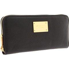 Michael Kors Black Zip Around Continental Black Leather Wallet