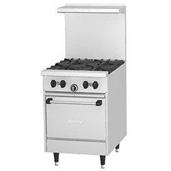 "Us Range U244L Restaurant Range - 4 Burners, 1 Space Saver Oven, 23-5/8""W"
