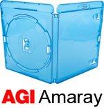 Amaray - Custodie per dischi Blu-Ray, dorso da 14mm, confezione da 10