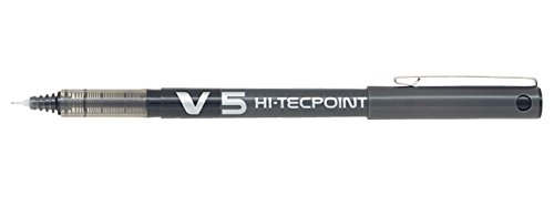 pilot-v5-liquid-ink-rollerball-05-mm-tip-black-box-of-12