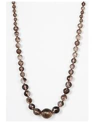 Just Women Genuine Smoky Quartz Necklace For The Calm Woman