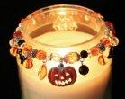 Halloween Spooky Boo Jack O Lantern Spider Bat Ghost Candle Jar Candy Decor