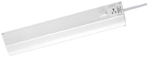 Westek Fa318Hbwcc Fluorescent Under Cabinet Light With Outlet, 18-Inch, White