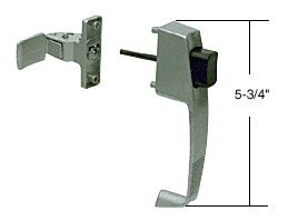 """Crl Aluminum Screen And Storm Door Push Button Latch With Tie Down Screw; 1-3/4"""" Screw Holes front-759381"""