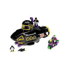 Fisher Price - Imaginext - DC Super Friends - EXCLUSIVE Villain Vehicle Set - Black Penguin Submarine