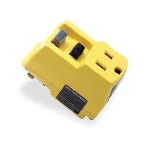 Power First 5YL43 Single Outlet GFCI Adapter, 15 Amps