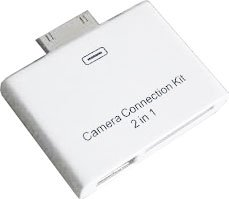 Puregadgets 2 in 1 Camera Connection Kit for Apple Ipad 16 32 GB and 3G (compatible with all models) with SD card and USB slot in one unit now works with the latest Apple Operating System