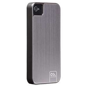Case-Mate® Barely There Brushed Alluminum Case Cover for iPhone 4/4S - Silver