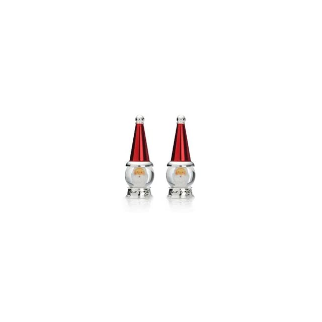 Towle Holiday Wishes Santa Snow Globe Salt & Pepper Shakers