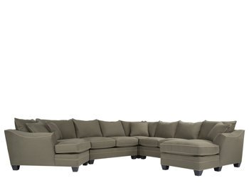 Foresthill green microfiber 5pc sectional sofa for 5 pc microfiber sectional sofa