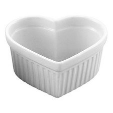 Hic Porcelain 6 Oz Heart Souffle Dish, 1 Ea