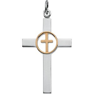 Elegant and Stylish 35.00 X 21.00 MM Cross Pendant in Sterling Silver , 100% Satisfaction Guaranteed.