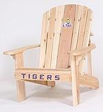 LSU Tigers Logo Adirondack Chair with 23 inch Seat Width