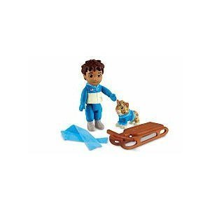 Fisher-Price Dora the Explorer Dollhouse Figures - Diego with Cat and Sled