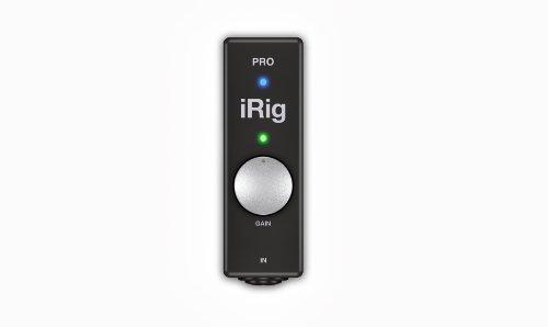 IK Multimedia iRig Pro Interfaccia Audio/Midi per iPad/iPhone/Mac/PC/iOS, Lightning/USB, Nero