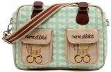 Pink Lining Mama Et Bebe - Bolso cambiador, dise�o de carritos y lazos, color beige y verde