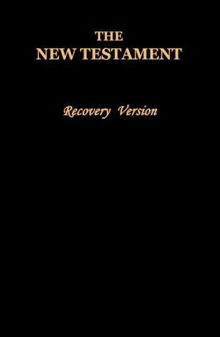The New Testament: Recovery Version, Black