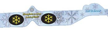 Snowflake Holiday Specs 3D Glasses for Christmas Lights