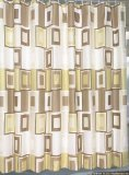 Contempo Tan And Brown 108-inch Extra Wide Fabric Shower Curtain