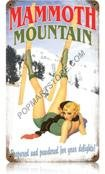 Mammoth Mountain Vintaged Metal Sign