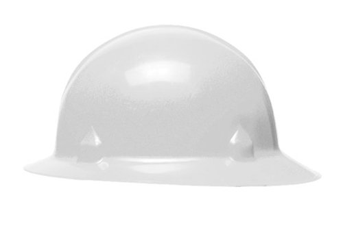 Jackson Safety 3014874 Block Head Full Brim Hard Hat 8 Point Ratchet Suspension - White (White Full Brim Hard Hat compare prices)