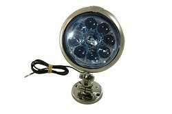 Permanent Mount Led Deck Light With Adjustable Spindle And Joint - 30 Watt Led - 600'L Spot Beam