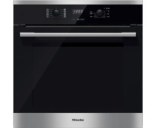 Miele ContourLine H2561B Built In Electric Single Oven - Clean Steel. It Will Perfeclty Look Great Built Into Your Kitchen