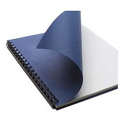Office Depot Grain Embossed Paper Binding Covers, 8 3/4in. x 11 1/4in., Navy, Pack Of 50, 25839