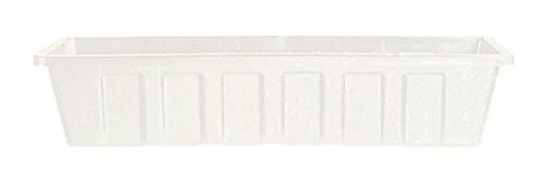 Novelty 02302 Polypro Plastic Flower Box Planter, White, 30-Inch Length (Plastic Flower Box compare prices)