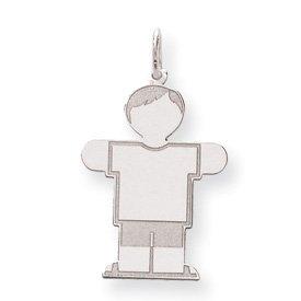 Sterling Silver Kid Charm - JewelryWeb
