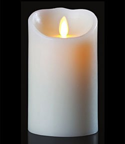 Luminara White Candle Battery Operated 3.5 x 7 – Timer – Remote ...