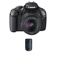 Canon EOS Rebel T3 Digital SLR Camera With 2 Lens Kit - Canon EF-S 18-55mm IS II Lens, and Canon EF-S 55-250mm f/4-5.6 IS STM Lens from Canon
