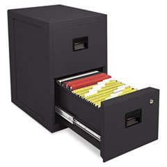 SentrySafe Fire-Safe 2-Drawer Insulated Vertical File, Black