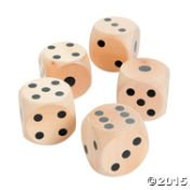 Large Wood Yard Dice Lawn Dice Game Dice Decorations Shopswell